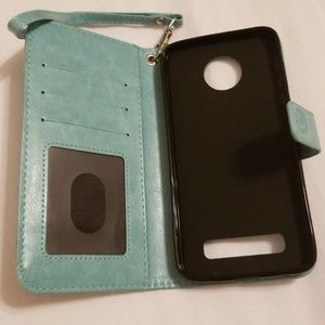 Moto Z Accessories - Lot of 3 Moto Z wallet phone cases